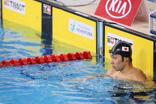 Kosuke Hagino (JPN), <br /> SEPTEMBER 25, 2014 - Swimming : <br /> Men's 200m Backstroke Final <br /> at Munhak Park Tae-hwan Aquatics Center <br /> during the 2014 Incheon Asian Games in Incheon, South Korea. <br /> (Photo by YUTAKA/AFLO SPORT)