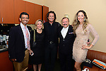 CORAL GABLES, FL - JULY 17: (EXCLUSIVE) Humberto M. Speziani, wife, Carlos Vives, Lorenzo Muniz and Claudia Elena Vives poses backstage during the Premios Juventud 2014 at The BankUnited Center on July 17, 2014 in Coral Gables, Florida.  (Photo by Johnny Louis/jlnphotography.com)