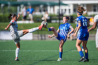 Boston, MA - Saturday June 24, 2017: Abby Erceg and Amanda DaCosta during a regular season National Women's Soccer League (NWSL) match between the Boston Breakers and the North Carolina Courage at Jordan Field.