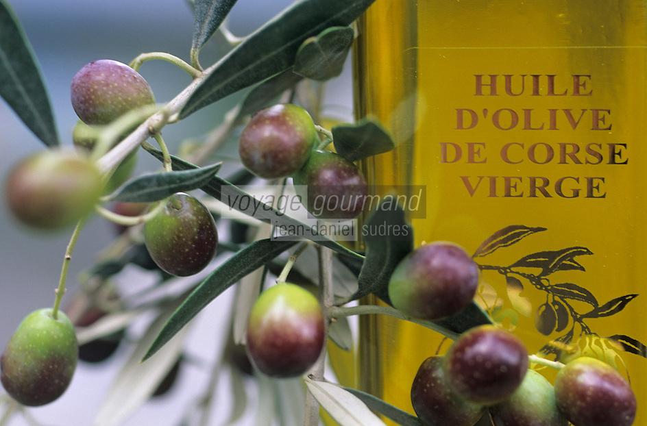 Europe/France/Corse/2A/Corse-du-Sud/Sainte Lucie de Tallano: Huile d'Olive de Corse de Mr Don Jean Santa Lucia Président des oléiculteurs de l'Alta Rocca