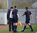 Ally McCoist argues with the match officials