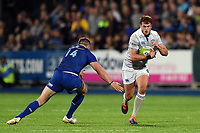 Josh Lewis of Bath Rugby in possession. Pre-season friendly match, between Leinster Rugby and Bath Rugby on August 25, 2017 at Donnybrook Stadium in Dublin, Republic of Ireland. Photo by: Patrick Khachfe / Onside Images