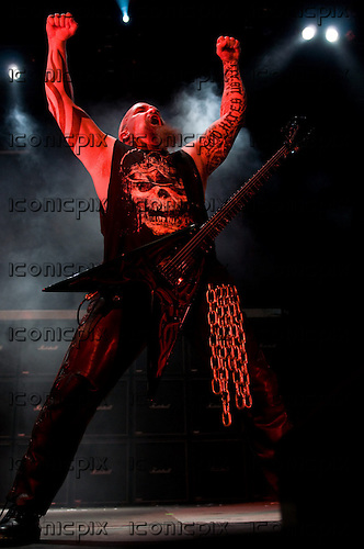 Slayer - guitarist Kerry King - performing live on the 2009 Mayhem Tour at San Manuel Amphitheatre in Devore, CA USA - July 12, 2009.  Photo credit: Kevin Estrada / IconicPix