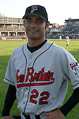 August 13, 2003:  Beau Kemp of the New Britain RockCats during a game at Jerry Uht Park in Erie, Pennsylvania.  Photo by:  Mike Janes/Four Seam Images