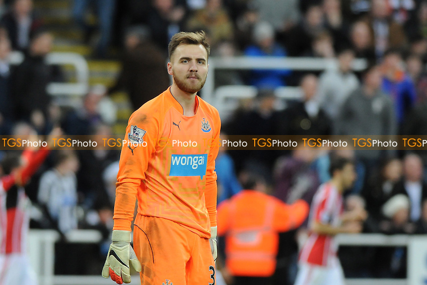 A dejected Jak Alnwick of Newcastle United - Newcastle United vs Sunderland AFC - Barclays Premier League Football at St James Park, Newcastle upon Tyne - 21/12/14 - MANDATORY CREDIT: Steven White/TGSPHOTO - Self billing applies where appropriate - contact@tgsphoto.co.uk - NO UNPAID USE