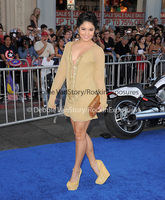 "Vanessa Hudgens at The Marvel Studios Premiere of "" Captain America : The First Avenger ""  held at The El Capitan Theatre in Hollywood, California on July 19,2011                                                                               © 2011 DVS/Hollywood Press Agency"