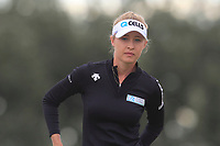 Nelly Korda (USA) on the 4th tee during Round 2 of the Ricoh Women's British Open at Royal Lytham &amp; St. Annes on Friday 3rd August 2018.<br /> Picture:  Thos Caffrey / Golffile<br /> <br /> All photo usage must carry mandatory copyright credit (&copy; Golffile | Thos Caffrey)