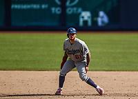 Alex Verdugo (61) .<br /> <br /> Acciones del partido de beisbol, Dodgers de Los Angeles contra Padres de San Diego, tercer juego de la Serie en Mexico de las Ligas Mayores del Beisbol, realizado en el estadio de los Sultanes de Monterrey, Mexico el domingo 6 de Mayo 2018.<br /> (Photo: Luis Gutierrez)