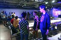 Encontro de video gameres Jogatorio, Sesc 24 de Maio, Dom Jose de Barros, Sao Paulo. 2018. © Juca Martins.