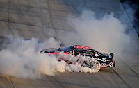 Sept 19, 2008; Dover, DE, USA; NASCAR Camping World Series East driver Matt Kobyluck celebrates after clinching the series championship in the Sunoco 150 at Dover International Speedway. Mandatory Credit: Mark J. Rebilas-
