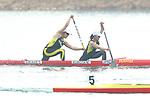 Manaka Kubota &   Teruko Kiriake (JPN),<br /> AUGUST 30, 2018 - Canoe Sprint : <br /> Women's Canoe Double 500m Final <br /> at Jakabaring Sport Center Lake <br /> during the 2018 Jakarta Palembang Asian Games <br /> in Palembang, Indonesia. <br /> (Photo by Yohei Osada/AFLO SPORT)