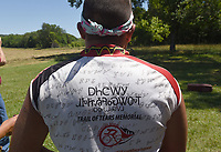 NWA Democrat-Gazette/FLIP PUTTHOFF <br /> Riders sport identical jerseys June 20 2017 on the 2017 &quot;Remember the Removal&quot; commemorative bike journey.