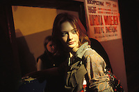 RUSSIA - JAN 03:  A young woman enters a night club in Kaliningrad, Russia in January of 2003. (Photo by Landon Nordeman).