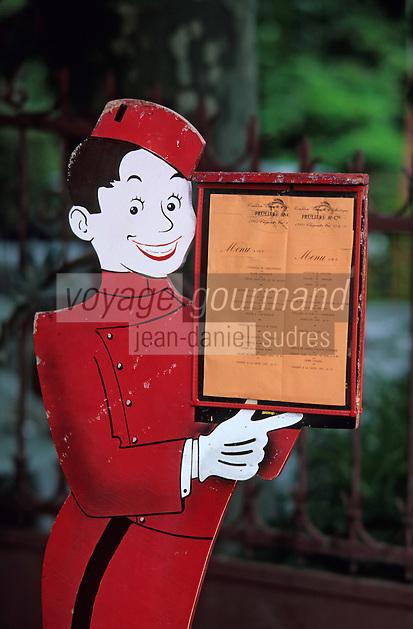 Europe/France/Auvergne/63/Puy-de-Dôme/Saint Nectaire: Détail d'un porte-menu