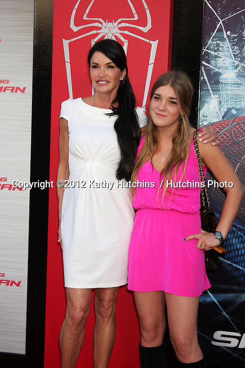 "LOS ANGELES - JUN 28:  Janice Dickinson and daughter arrives at the ""The Amazing Spider-Man"" Premiere at Village Theater on June 28, 2012 in Westwood, CA"