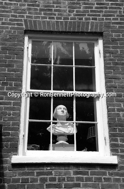 Bust of George Washington in window of townhouse Waterford Commonwealth of Virginia, Fine Art Photography by Ron Bennett, Fine Art, Fine Art photography, Art Photography, Copyright RonBennettPhotography.com ©