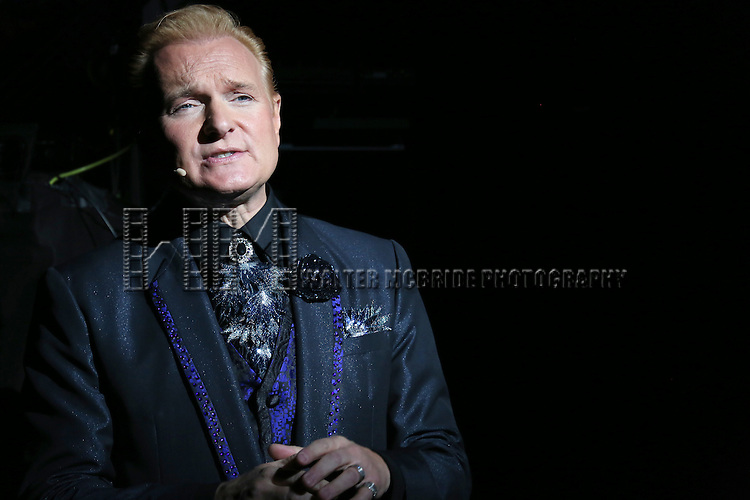 Jeff Hobson performing in a press preview of 'The Illusionists' at Mariott Marquis Theatre on December 2, 2014 in New York City.