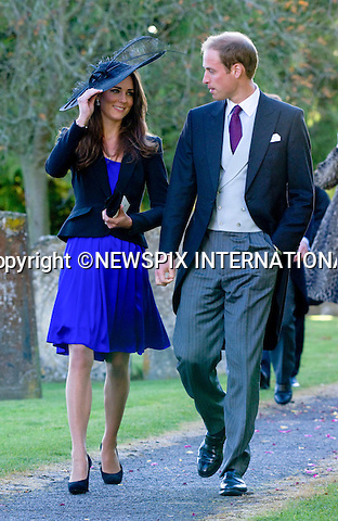 "PRINCE WILLIAM & KATE MIDDLETON.Attend the wedding of friends Harry Meade and Rosie Bradford at the Church of St Peter & St Paul, Northleach_Gloucestershire_23/10/2010.Mandatory Credit Photo: ©Carnall/NEWSPIX INTERNATIONAL..**ALL FEES PAYABLE TO: ""NEWSPIX INTERNATIONAL""**..IMMEDIATE CONFIRMATION OF USAGE REQUIRED:.Newspix International, 31 Chinnery Hill, Bishop's Stortford, ENGLAND CM23 3PS.Tel:+441279 324672  ; Fax: +441279656877.Mobile:  07775681153.e-mail: info@newspixinternational.co.uk"