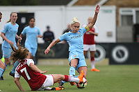 Danielle van de Donk of Arsenal Women and Steph Houghton of Manchester City Women during Arsenal Women vs Manchester City Women, FA Women's Super League FA WSL1 Football at Meadow Park on 12th May 2018