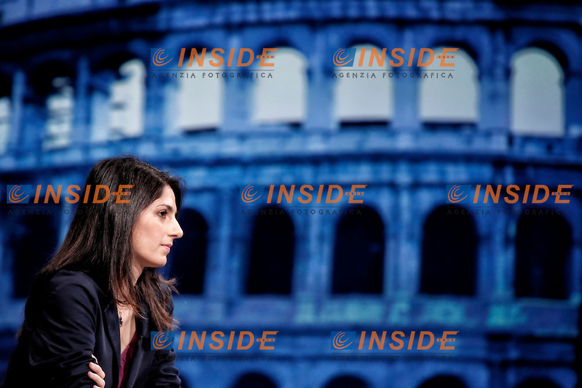 Virginia Raggi <br /> Roma 12-06-2016 Rai, Trasmissione In Mezz'Ora.<br /> Tv show 'In Mezz'Ora'<br /> Photo Samantha Zucchi Insidefoto