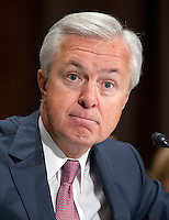 John G. Stumpf, Chairman and CEO, Wells Fargo &amp; Company, testifies before the United States Senate Committee on Banking, Housing and Urban Affairs during the hearing to examine Wells Fargo&rsquo;s unauthorized accounts and the regulatory response on Capitol Hill in Washington, DC on Tuesday, September 20, 2016.<br /> Credit: Ron Sachs / CNP /MediaPunch