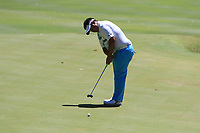 Kiradech Aphibarnrat (THA) in action on the 1st during Round 3 of the ISPS Handa World Super 6 Perth at Lake Karrinyup Country Club on the Saturday 10th February 2018.<br /> Picture:  Thos Caffrey / www.golffile.ie<br /> <br /> All photo usage must carry mandatory copyright credit (&copy; Golffile | Thos Caffrey)