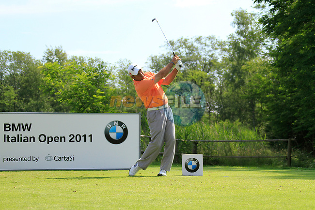 Hennie Otto (RSA) in action on the 6th tee during Day 3 of the BMW Italian Open at Royal Park I Roveri, Turin, Italy, 11th June 2011 (Photo Eoin Clarke/Golffile 2011)