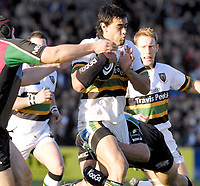 Twickenham. GREAT BRITAIN, Saints No.8, Daniel BROWNE, breaking through, during the, Guinness Premiership game between, NEC Harlequins and Northamption Saints, on Sat., 04/11/2006, played at the Twickenham Stoop, England. Photo, Peter Spurrier/Intersport-images].....