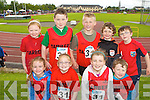 Edel Martin, Lindsay Martin, Ellen Egan, Conor Egan. Back row: Ava Horan, , Darragh O'Connor, Eoin O'Connor, Jamie Moloney and Gavin O'Connor Tarbert at the Community Games on Saturday