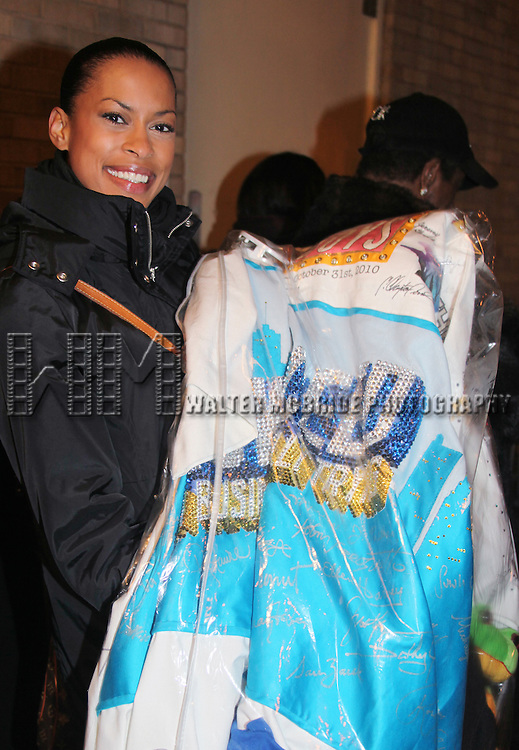 Kearran Giovanni (Gypsy Robe Recipient for Hugh Jackman-Back On Broadway).attending the Opening Night Performance Gypsy Robe Ceremony for 'The Gershwins' Porgy & Bess' Recipient J.D. Webster at the Richard Rodgers Theatre in New York City. 1/12/2012