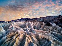 Sunset at Zabriskie Point, Death Valley National Park, California.