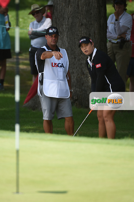 Ariya Jutanugarn (THA) looks over her chip shot on 2 during round 4 of the U.S. Women's Open Championship, Shoal Creek Country Club, at Birmingham, Alabama, USA. 6/3/2018.<br /> Picture: Golffile | Ken Murray<br /> <br /> All photo usage must carry mandatory copyright credit (© Golffile | Ken Murray)