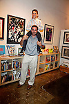 Jake Kloberdanz and Oliver Peake.Marvel Artworks Party.Every Picture Tells A Story Gallery.Santa Monica, California.29 July 2009.Photo by Nina Prommer/Milestone Photo