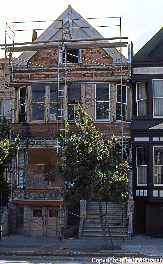 San Francisco: Remodeling a Victorian House--Sacramento St.   Photo '78.