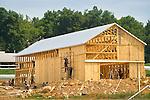 Amish Barn raising, Sugar Valley, PA.