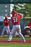 Cincinnati Reds Mitch Trees (32) during an instructional league game against the Cleveland Indians on October 17, 2015 at the Goodyear Ballpark Complex in Goodyear, Arizona.  (Mike Janes/Four Seam Images)