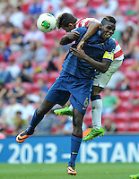 France's Paul Pogba (F) during their FIFA U-20 World Cup Turkey 2013 Group Stage Group A soccer match France betwen USA at the Turk Telkom Arenain istanbul on June 24, 2013. Photo by Aykut AKICI/isiphotos.com