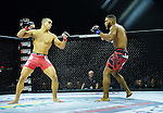CORAL GABLES, FL - SEPTEMBER 09: (L-R) Raush Manfio fight Demarques Jackson in their Lightweight bout during the TITAN FC41 UFC fight event at Bank United Center on September 9, 2016 in Miami, Florida. ( Photo by Johnny Louis / jlnphotography.com )