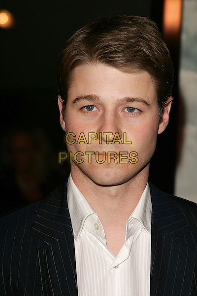 "BENJAMIN McKENZIE.""The New World"" Los Angeles Premiere to Benefit the American Film Institute held at the Academy of Motion Pictures Arts and Sciences, Beverly Hills, California. .December 15th, 2005.Photo: William Scott/AdMedia/Capital Pictures.headshot portrait.www.capitalpictures.com.sales@capitalpictures.com.© Capital Pictures."