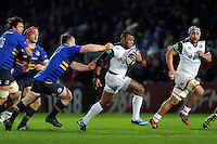 Semesa Rokoduguni of Bath Rugby goes on the attack. European Rugby Champions Cup match, between Leinster Rugby and Bath Rugby on January 16, 2016 at the RDS Arena in Dublin, Republic of Ireland. Photo by: Patrick Khachfe / Onside Images