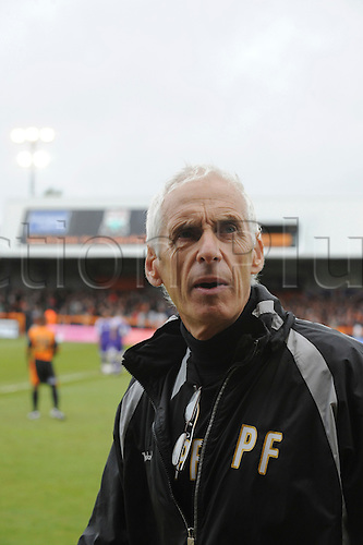 8.5.2010. Barnet Football Ground. Barnet manager Paul Fairclough at start of game. Barnet   1 - 0   Rochdale. Albert Jarrett scored a last-gasp winner for Barnet as the Bees secured their Football League survival.