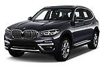 2018 BMW X3 xLine-4wd 5 Door SUV Angular Front automotive stock photos of front three quarter view