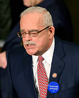 United States Representative Gerry Connolly (Democrat of Virginia) wears a red tie with masks as he votes for US Representative Nancy Pelosi (Democrat of California) to be Speaker of the US House of Representatives as the 116th Congress convenes for its opening session in the US House Chamber of the US Capitol in Washington, DC on Thursday, January 3, 2019. Photo Credit: Ron Sachs/CNP/AdMedia