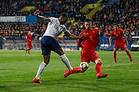 Callum Wilson of England and Zarko Tomasevic of Montenegro  <br /> Podgorica 25-3-2019 <br /> Football Euro2020 Qualification Montenegro - England <br /> Foto Daniel Chesterton / PHC / Insidefoto <br /> ITALY ONLY