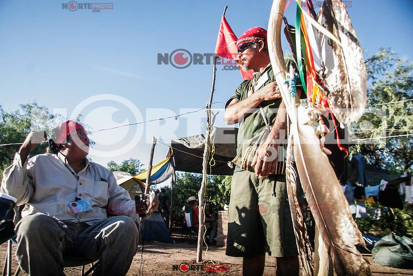 La seguridad del la seguridad estuvo a cargo de  David Ortega de la tribuTohono de Arizona y Tlalhuikatzin Gutierrez que es Caddo Mexhika Nation de  Central Texas.  <br /> <br /> Encuentro Continental de Pueblos  Indios de America en el Poblado de Vicam Sonora Mexico territorio Yaqui del 11 al 14 de octubre 2007.