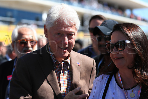 22nd October 2017, Circuit of the Americas, Austin, USA; American Formula One Grand Prix, Race Day; Bill Clinton