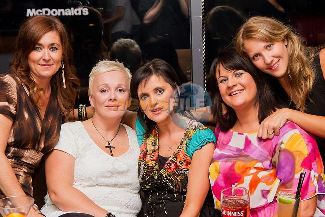 Trisha Farrell, Margaret Corry, Carmel Goff, Susan Combs and Rachel Nolan enjoying a night in Bru..Picture: Shane Maguire / www.newsfile.ie.