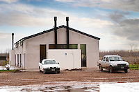 The old vineyard building... Bodega Del Fin Del Mundo - The End of the World - Neuquen, Patagonia, Argentina, South America