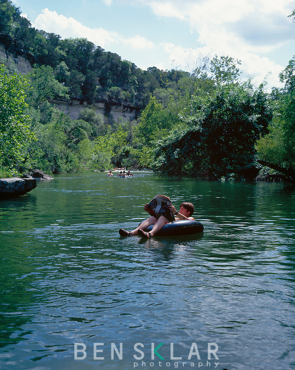 The Barton Creek Greenbelt hosts swimmers, tubers, climbers, bikers and runners in Austin, Texas...BRANDON WILDE/AUSTIN MULTIMEDIA GROUP.Ben Sklar for VICE Magazine