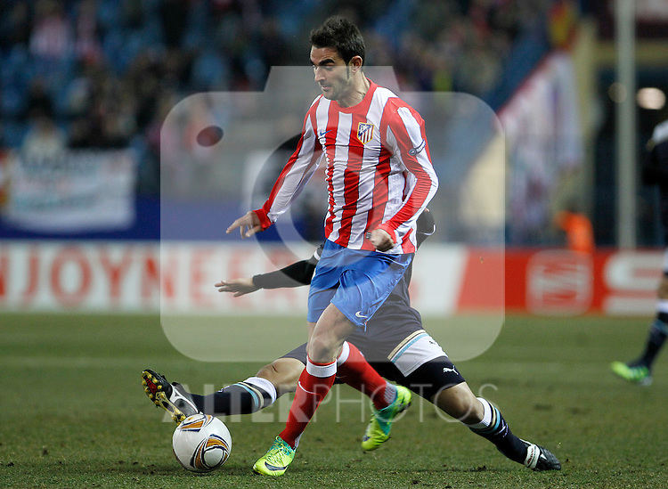 Atletico de Madrid's Adrian Lopez during Europa League match.February 23,2012. (ALTERPHOTOS/Acero)
